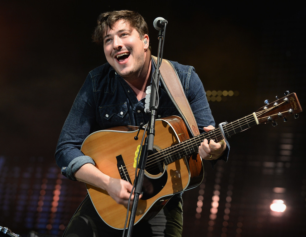. CHICAGO, IL - AUGUST 03:  Marcus Mumford of Mumford & Sons performs during Lollapalooza 2013 at Grant Park on August 3, 2013 in Chicago, Illinois.  (Photo by Theo Wargo/Getty Images)