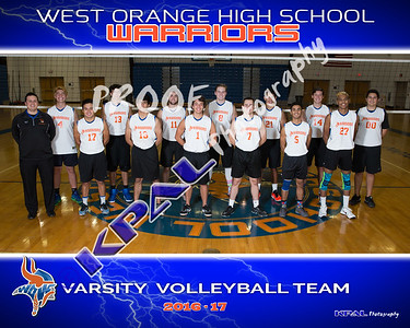 2016-17 Boys Volleyball Team