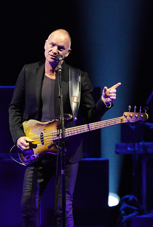 . Sting performs in the On Stage Together tour at The Palace of Auburn Hills, Wednesday, Feb. 26, 2014. Photo by Ken Settle