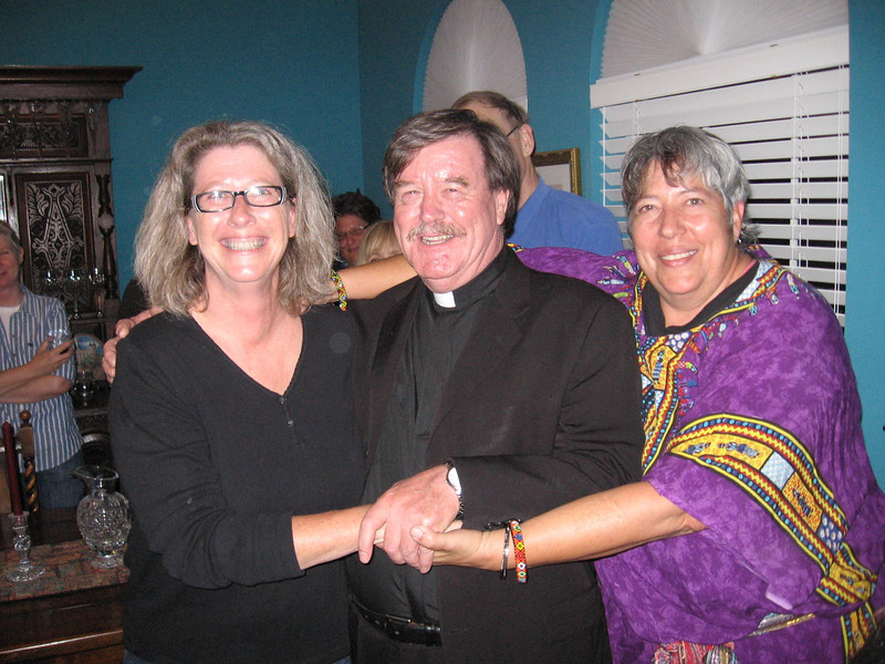L to R, Lorinda, the Righteous Reverend Dr Otis Futhermucker, and Jana