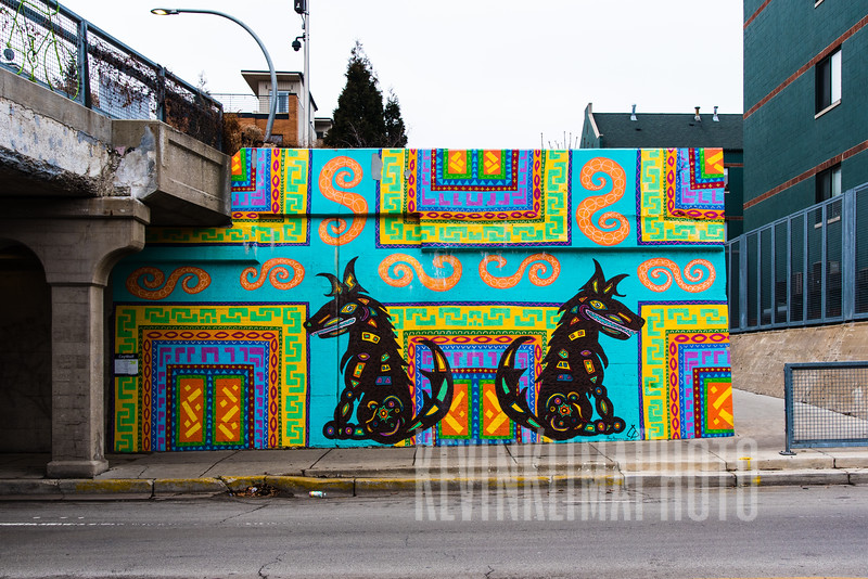 Mural on Damen Ave at The 606