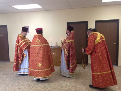 Bishop Peter Serves Liturgy in Lansing