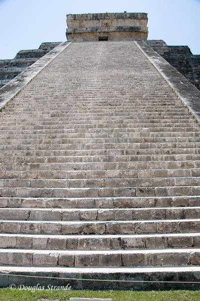 The 90 stairs on one side of the temple