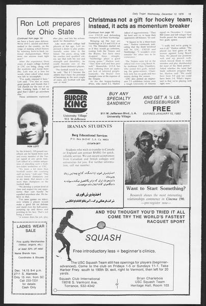 Daily Trojan, Vol. 87, No. 58, December 12, 1979