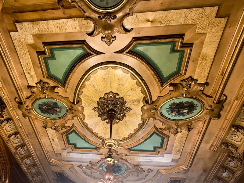 trompe l'oeil painted ceiling