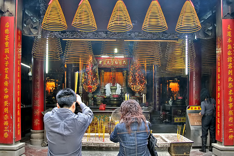 Worshipping at the A-Ma temple, Macau