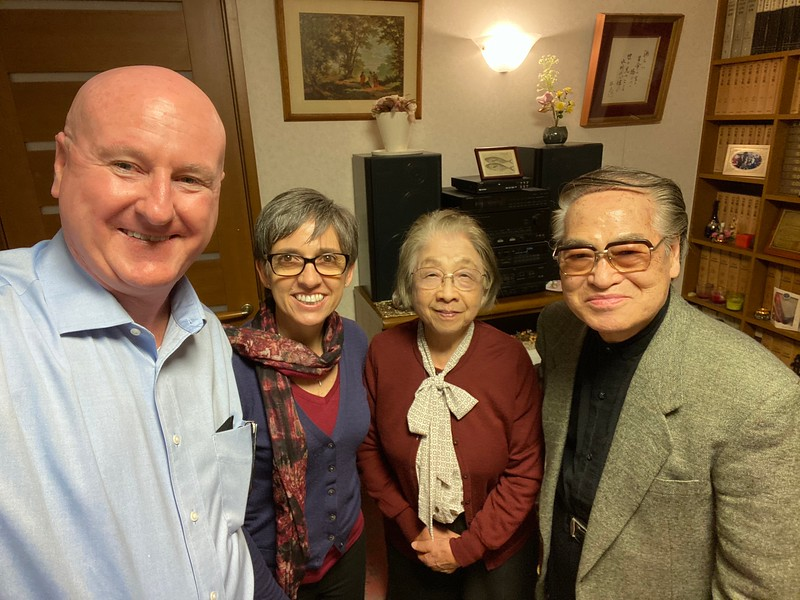 Joe & Silk with Dr. & Mrs. Paul Ariga