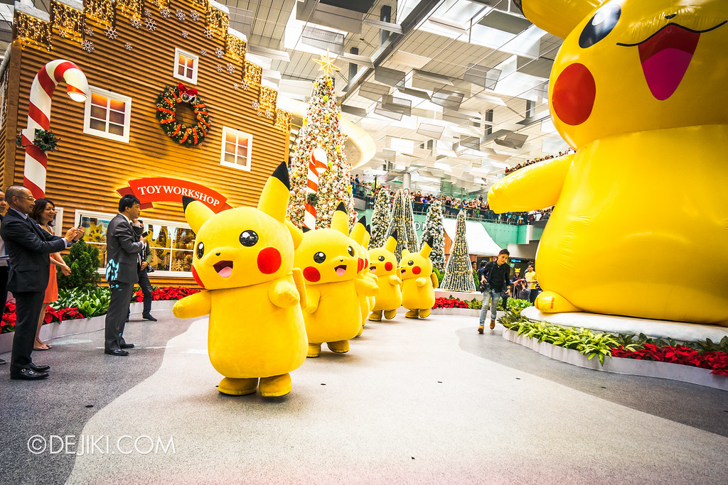 Pokémon at Changi Airport - Pikachu Parade starting