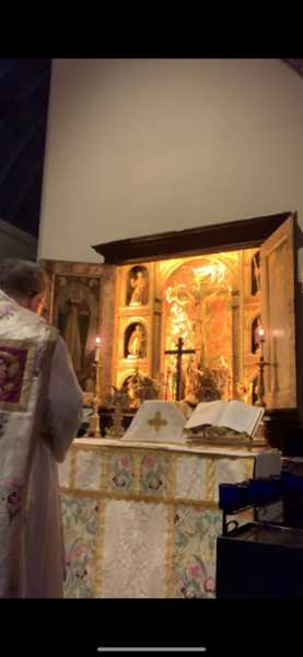 Mass at All SS Altar for Our Lady of the Rosary