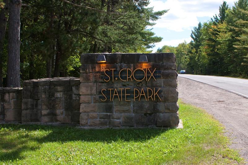 Entering St. Croix State Park
