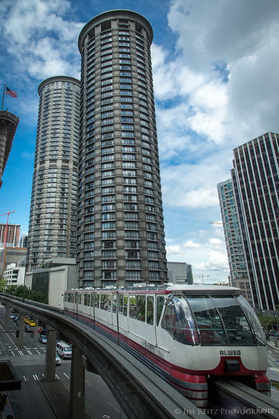 Seattle Monorail, Westin Hotel in background