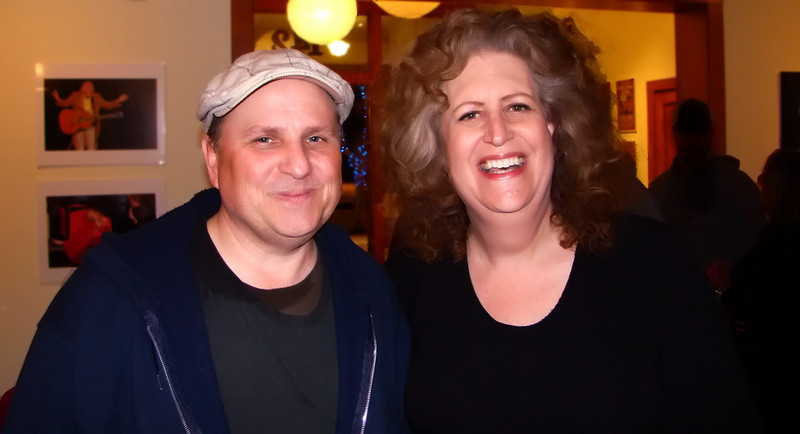 Bobcat Goldthwait and Robin Diane Goldstein @ 142 Throckmorton Theater in Mill Valley, CA on Valentine's Day, 2009