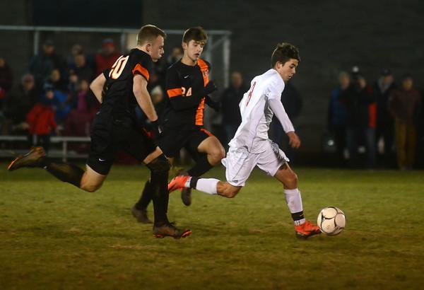 Mount Greylock vs Belchertown boys soccer semifinal - 110818