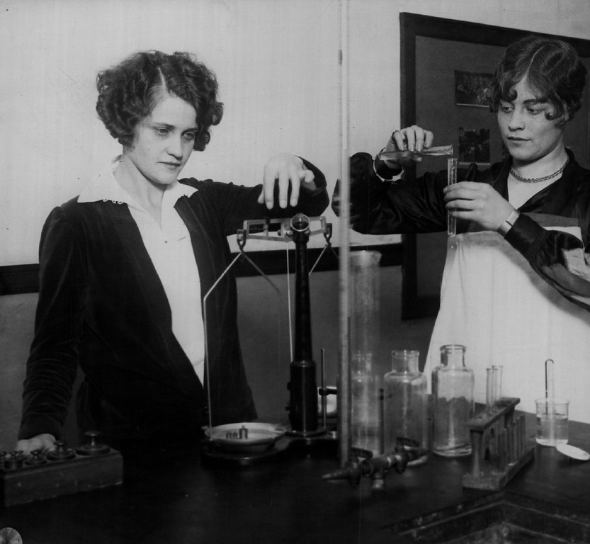 """. Marie Henneberry -Voted by Students as \""""Head Girl\"""" in Chemistry at Emily Griffith Opportunity School in Denver. Denver Post Library photo archive"""