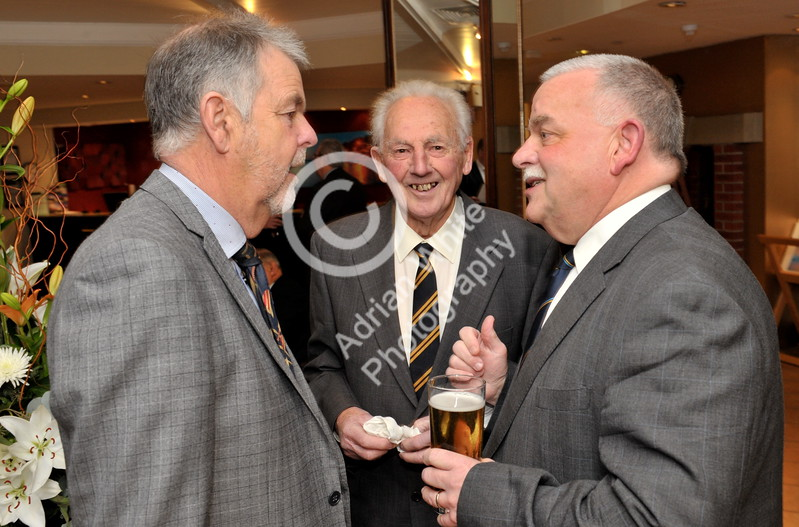 SWANSEA / Copyright Adrian White Friday 20th January 2017 SOCIETY PIX for the Mumbles Cricket Club Annual Dinner at The Marriot Hotel. Mumbles Cricket Club  club legend Don Shepherd (centre) BYLINE www.click4prints.com