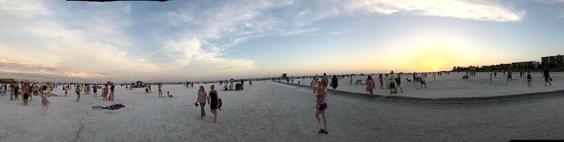 Siesta Beach Pano - Siesta Key Florida