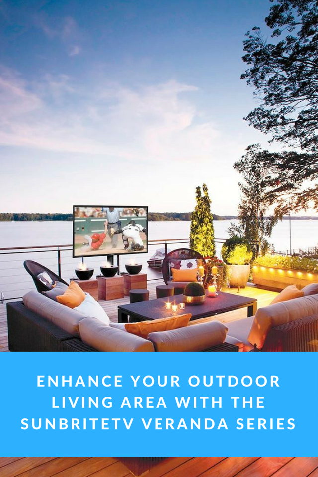 The SunBriteTV Veranda series is a family of weatherproof televisions designed for full-shade applications and AWESOME outdoor living spaces. #ad @BestBuy
