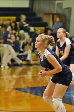 volleyball v milledgeville  10.15.09