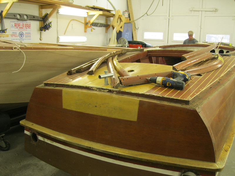Transom with cover boards removed.
