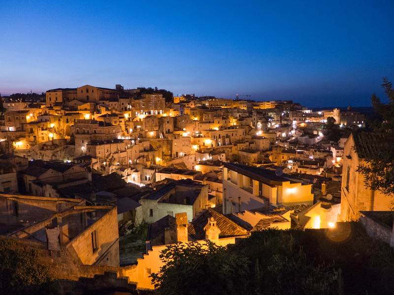 Matera at night