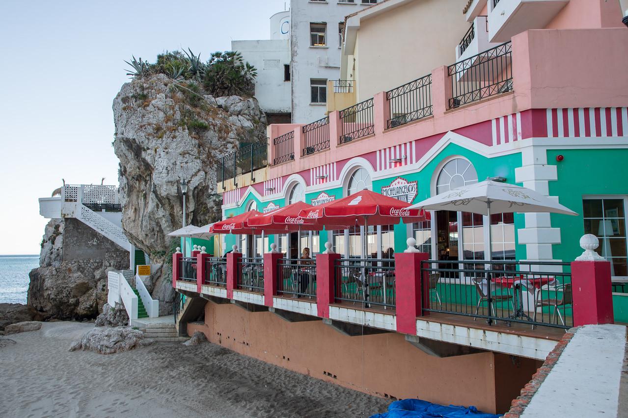 Gibraltar Restaurant Michaelangelo's on Catalan Bay