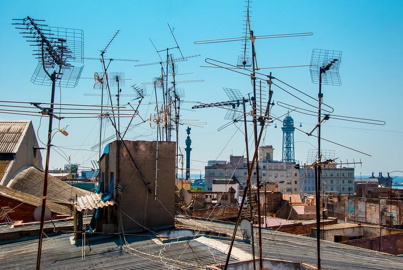 Looking over Barcelona, Spain