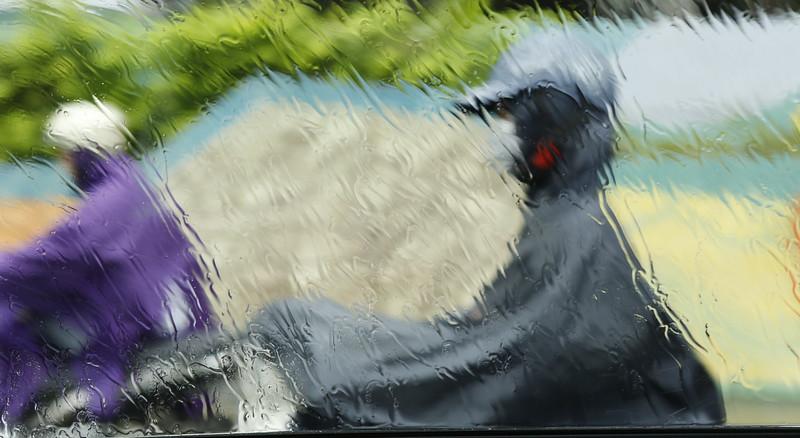 Mural through side window while raining - # 5