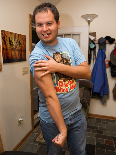 Mason Showing off his Wookie Shirt.jpg