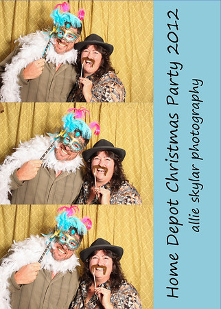 Home Depot Christmas Party Smile Booth 2012
