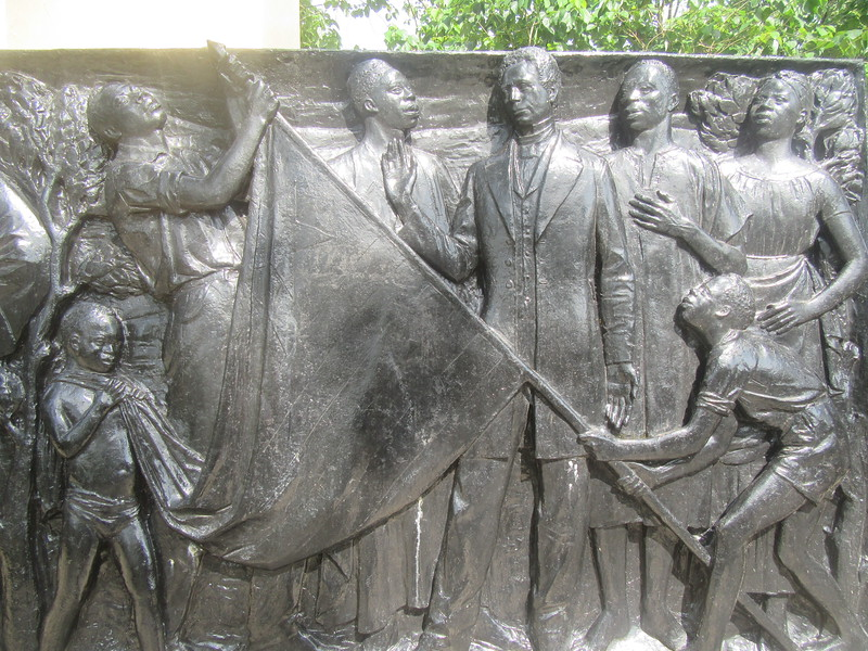 014_Monrovia. Snipper Hill. Declaring Independence and Rasing their own Flag.JPG