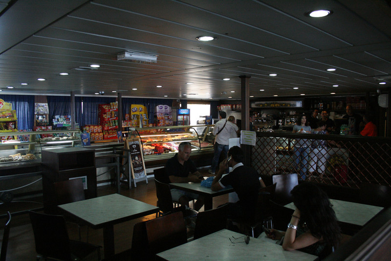 2010 - On board VESTFOLD : the bar.