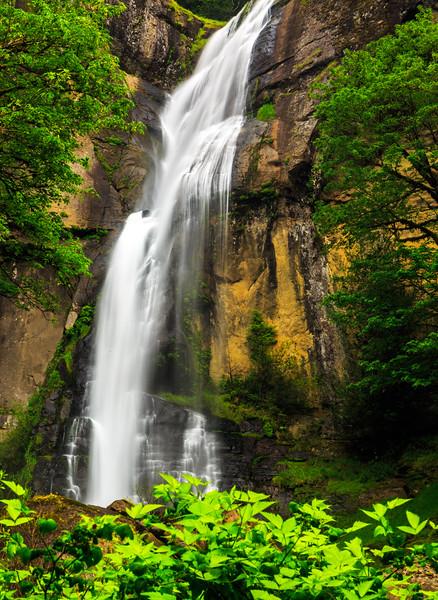 Golden Falls cascade at Silver and Goldern Falls Oregon