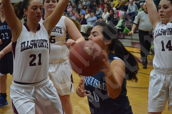 Girls' basketball: Ellsworth vs. Presque Isle 1/23/2015