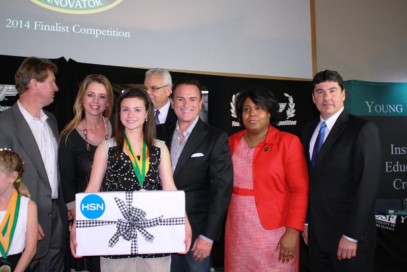 Grand Prize winner Melissa Feingold won a new laptop computer from HSN