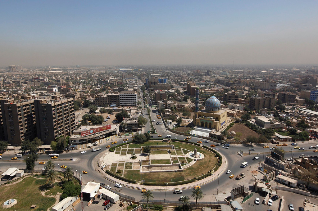 . A view of al-Firdous square, where the statue of Saddam Hussein used to stand, in central Baghdad, April 8, 2013. A decade after the U.S.-led invasion, Iraq is still struggling with political instability and violence that in recent weeks has killed at least 10 candidates who had planned to run in forthcoming local elections. Picture taken April 8, 2013. REUTERS/Saad Shalash