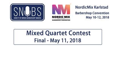 2018-0511 SNOBS -Friday -Mixed Quartets Contest