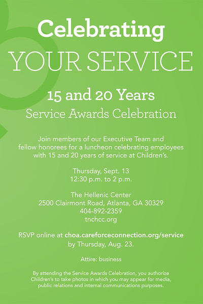 Childrens Healthcare of Atlanta Service Awards 2018 Luncheon