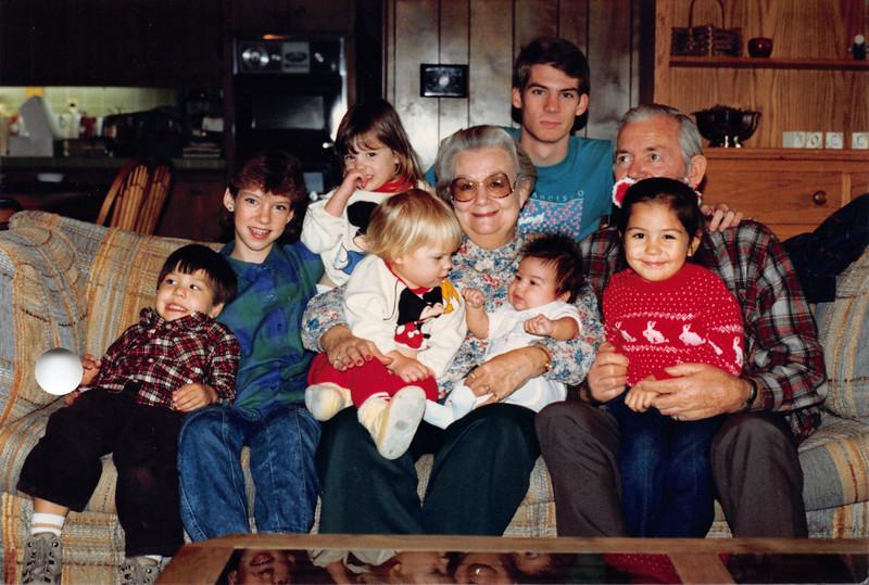 Dec 28, 1986. Ruben, Frankie and the grandkids