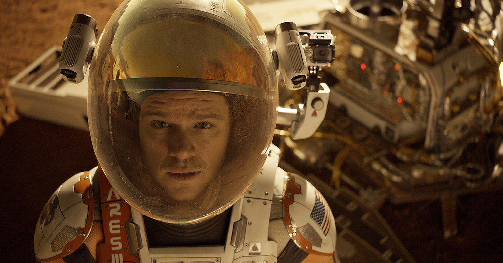 """. This photo released by 20th Century Fox shows Matt Damon in a scene from the film, \""""The Martian.\"""" Damon was nominated for an Oscar for best actor on Thursday, Jan. 14, 2016, for his role in the film. The 88th annual Academy Awards will take place on Sunday, Feb. 28, at the Dolby Theatre in Los Angeles.  (Aidan Monaghan/20th Century Fox via AP)"""