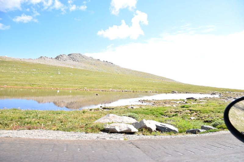 A pond near Summit Lake, about 3/4 to the summit.