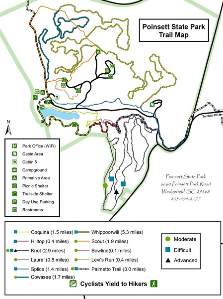 Poinsett State Park (Trail Map)