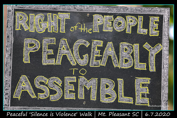 PEACEFUL 'SILENCE IS VIOLENCE' WALK