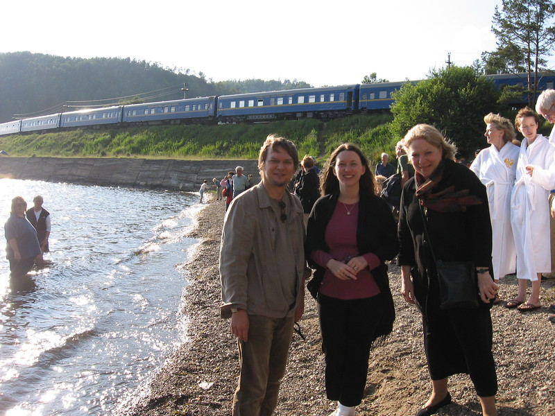 Serguei, Leslie, and Kim at Lake Baikal - Leslie Rowley