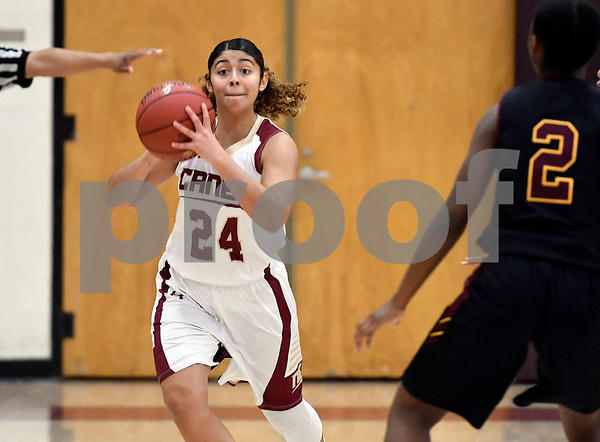 1/13/2018 Mike Orazzi | Staff New Britain's Savannah Gonzalez (24) in New Britain Saturday afternoon.