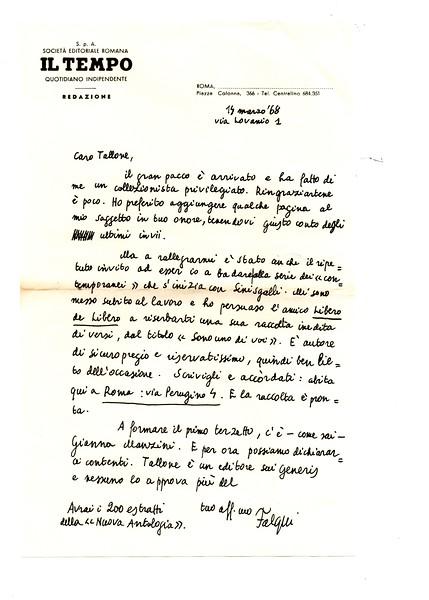 Enrico Falqui to Alberto Tallone