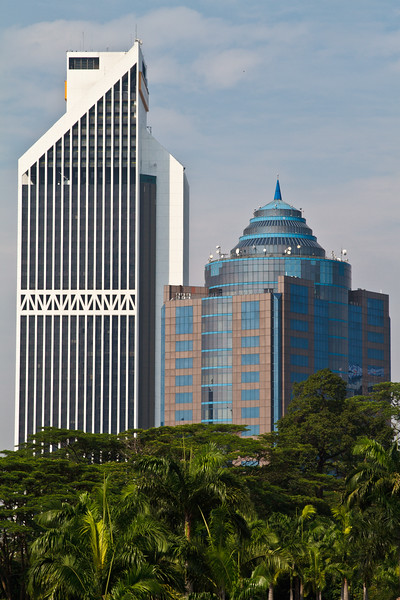 Urban landscape in Kuala Lumpur.