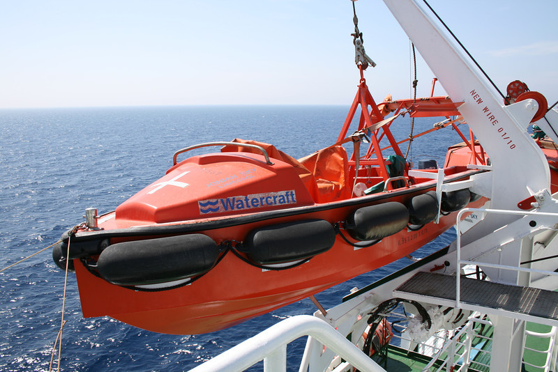 2010 - On board F/B IONIAN SKY : fast rescue boat.