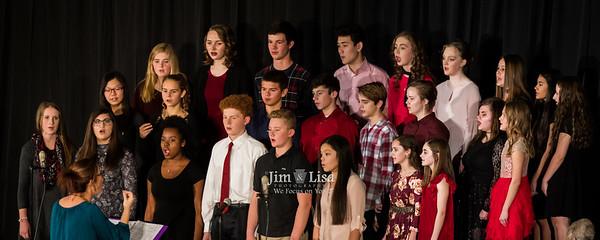 Christmas Concert, Elementary Bands and High School Choir, December 8