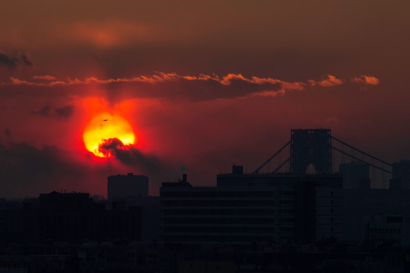 New Years Eve Sunset in NYC