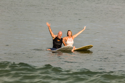 SURFING WITH THE BRIDE AND GROOM